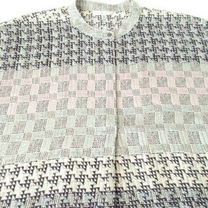 CAbi Houndstooth Breezy Blouse XL